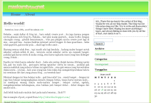 my blog design screenshot
