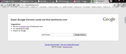 kamtizone.com getting error, offline for 3 days, hosted at Idwebspace.com